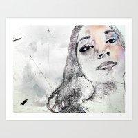 A Girl Named K Art Print
