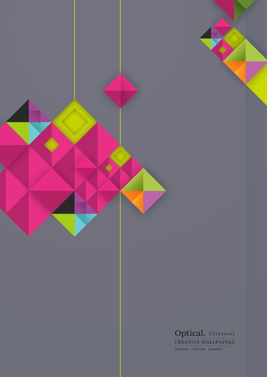 Optical illusion_grey Art Print