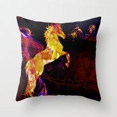HORSE - War horse Throw Pillow