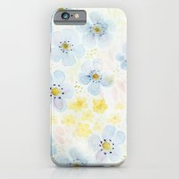iPhone & iPod Case featuring Blue Fields. Fictional Flowers. by Krissy Diggs