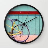 Yellow Bicycle Wall Clock