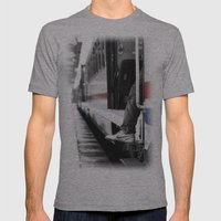 Travel Mens Fitted Tee Athletic Grey SMALL