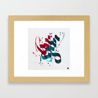 Love & Gun Framed Art Print