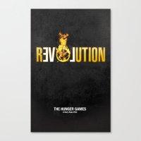 Hunger Games - Revolution Canvas Print
