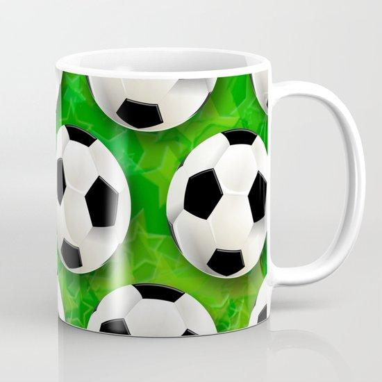 Soccer Ball Football Pattern Mug By BluedarkArt