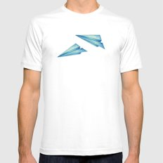 High Flyer   Origami   Simplified SMALL White Mens Fitted Tee