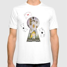 alice #4 White SMALL Mens Fitted Tee