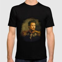 Robert Downey Jr. - replaceface Mens Fitted Tee Black SMALL