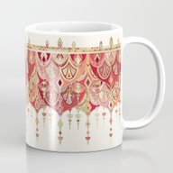 Royal Red Art Deco Doubl… Mug