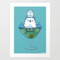 Martini PBear Art Print