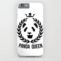 iPhone & iPod Case featuring panda queen/king by Seeb Bremer