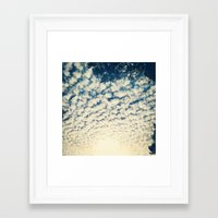 Clouds Effect Framed Art Print