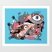 Get Along Art Print