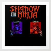 Shadow Of The Ninja- Blu… Art Print