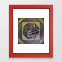 Wattle in the Round Framed Art Print