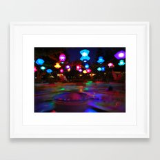 Teacups Blur at Night Framed Art Print