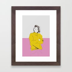 Woman Color 3 Framed Art Print