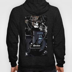 Broken, rupture, damaged, cracked black apple iPhone 4 5 5s 5c, ipad, pillow case and tshirt Hoody