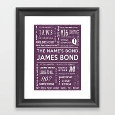 Bond Purple Framed Art Print