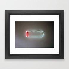Low Battery Framed Art Print