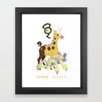 G For Pocket Monster Framed Art Print