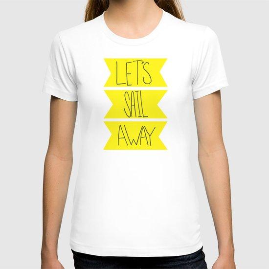 Let's Sail Away: Sandy Beach T-shirt