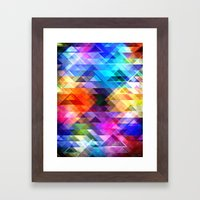 Textural Geometry Of Col… Framed Art Print