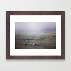 foggy days are my favorite days. Framed Art Print