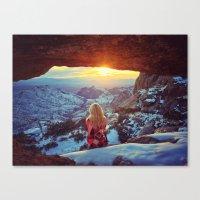 Reminiscing At Sunset Canvas Print