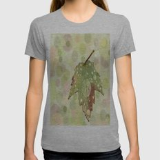 Just Leaf in Peace Womens Fitted Tee Athletic Grey SMALL