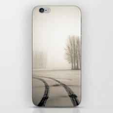 Tyre tracks in snow iPhone & iPod Skin