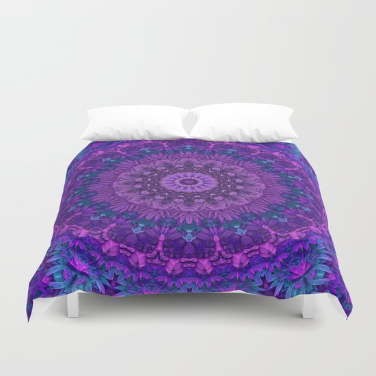 Harmony In Purple Duvet Cover By Lyle Hatch