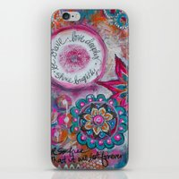 Be Brave. Love Deeply. S… iPhone & iPod Skin
