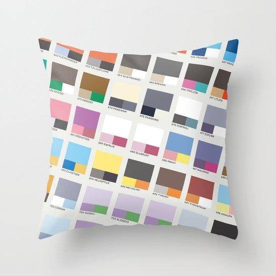 Poke-Pantone 6 (Kalos Region) Throw Pillow
