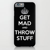 iPhone & iPod Case featuring Keep Calm and Get Mad and Throw Stuff by RipdNTorn