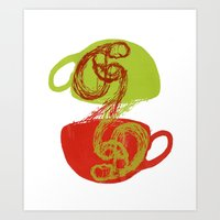Coffee And Tea Time Art Print