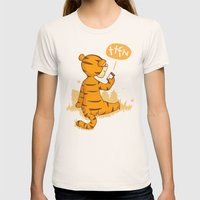Ta Ta For Now Womens Fitted Tee Natural SMALL