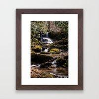 Mill Creek Falls Framed Art Print
