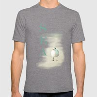 Bird Surfing Mens Fitted Tee Tri-Grey SMALL