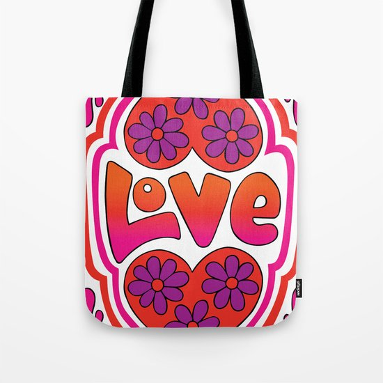 Psychedelic Love Tote Bag