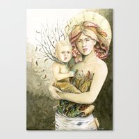 Mother Earth To Her Chil… Canvas Print