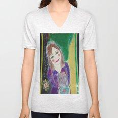 Self Love Portrait for Inner Peace  Unisex V-Neck