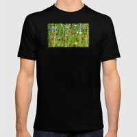 Colourful Garden - JUSTA… Mens Fitted Tee Black SMALL