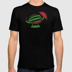 Happy slice of life Black SMALL Mens Fitted Tee