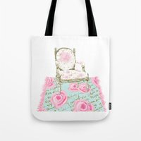 Shabby Chic Rug and French Chair Tote Bag