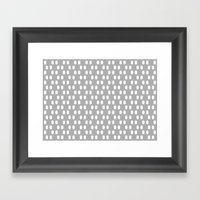 Aelbrecht Grey Pattern Framed Art Print