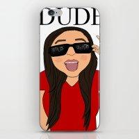 DUDE. iPhone & iPod Skin