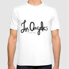 Los Angeles I love you  Mens Fitted Tee White SMALL