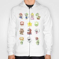Mario Characters Watercolor  Hoody