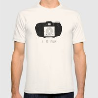 I Love Film Mens Fitted Tee Natural SMALL